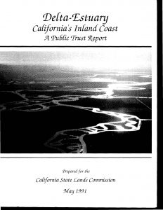 Cover of the Delta Estuary public trust report from 1991