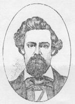 Drawing of Horace A. Higley