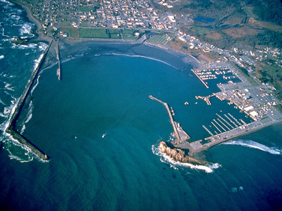 Aerial photo of Crescent City Harbor District
