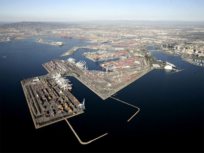Aerial Photo of the Port of Long Beach courtesy of the Port of Long Beach