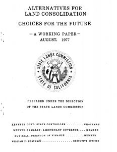 Cover to the 1977 report Alternatives for Land Consolidation – Choices for the Future – A Working Paper