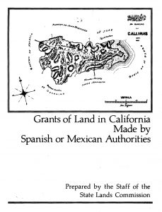 Cover of the 1982 Report of Grants of Land in CA made by Spanish or Mexican Authorities