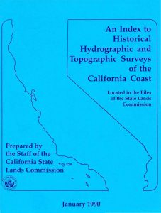 Cover of the 1990 Historical Hydro and +Topo Surveys of the CA Coast