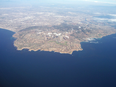 Aerial view of Palos Verdes By Bryanwake at English Wikipedia [Public domain], via Wikimedia Commons