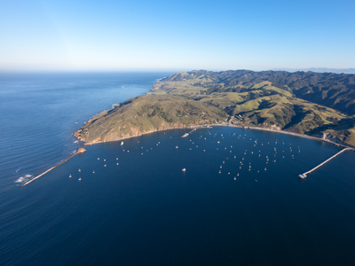 Aerial Photo of the Port San Luis Harbor - looking North and West - courtesy of the Port San Luis Harbor District