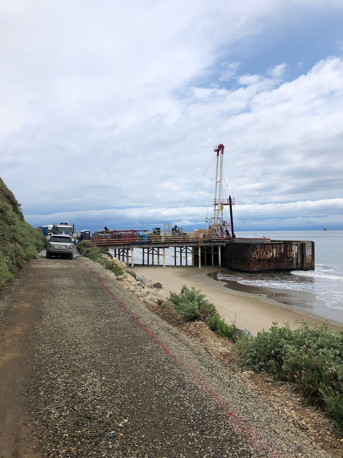 Work Continues at Haskell Beach